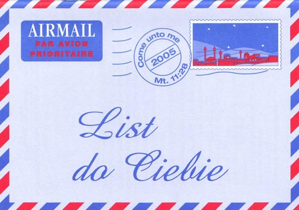 Una lettera per te in Polacco - Opuscolo Evangelizzazione (Spillato)