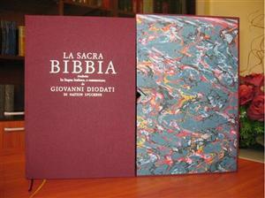Bibbia Diodati da Pulpito Edizione del 1641 con note di Giovanni Diodati (Copertina rigida)