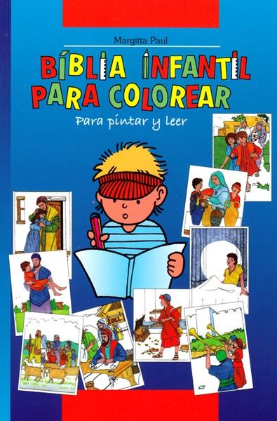 Biblia infantil para colorear - Bibbia per bambini da colorare in spagnolo (Brossura)
