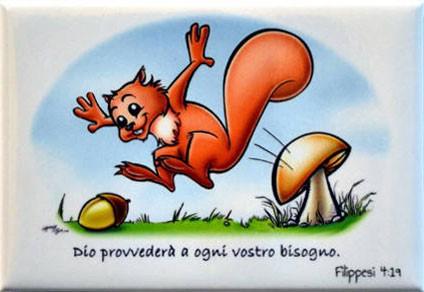 Magnete Calamita Scoiattolo Filippesi 4:19
