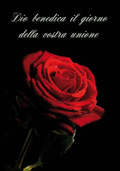Biglietto per Matrimonio con busta Rosa Rossa (CLCA 002)