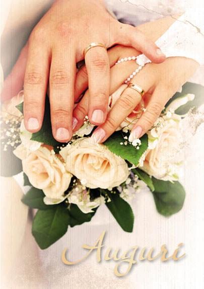 Biglietto per Matrimonio con busta Mani sposi antichizzato (CLCA 001) (Pieghevole) [Cartoline/Biglietti]
