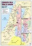La conquista della Terra di Canaan - Carta geografica