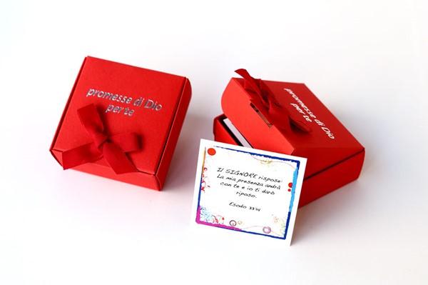 Promesse di Dio per te - Scatolina di Colore Rosso (Cartoncino)