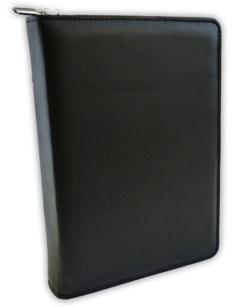 Copribibbia artigianale in pelle colore nero Medium (50221)