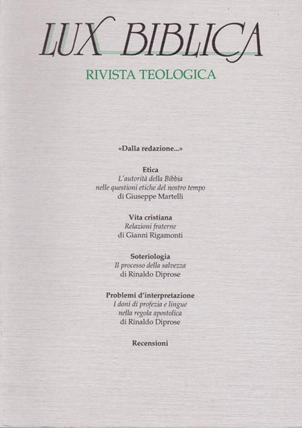 Lux biblica - n° 16 (Brossura)