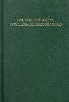 Nuovo Testamento Greco - francese interlineare