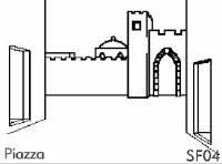 Piazza Cortile - Sfondo su flanella