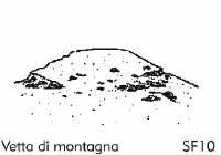 Vetta di una montagna - Sfondo su flanella