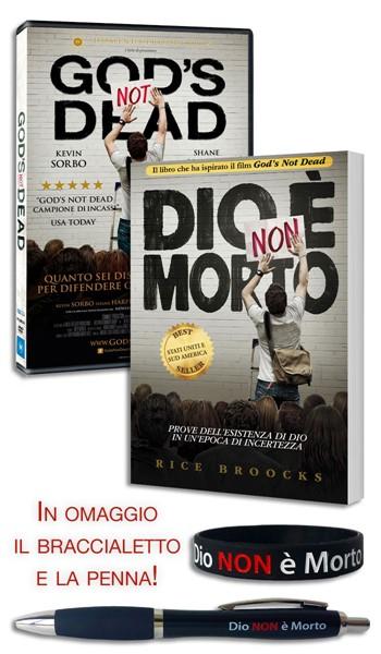 Offerta Dio non è morto: Libro + DVD + Braccialetto + Penna in Inglese