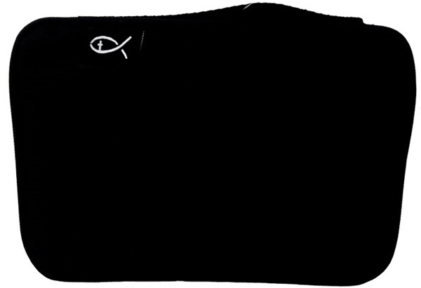 Copribibbia in tessuto colore nero formato Medio (Stoffa)