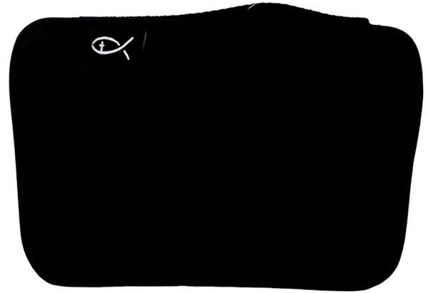 Copribibbia in tessuto colore nero formato Grande (Stoffa)