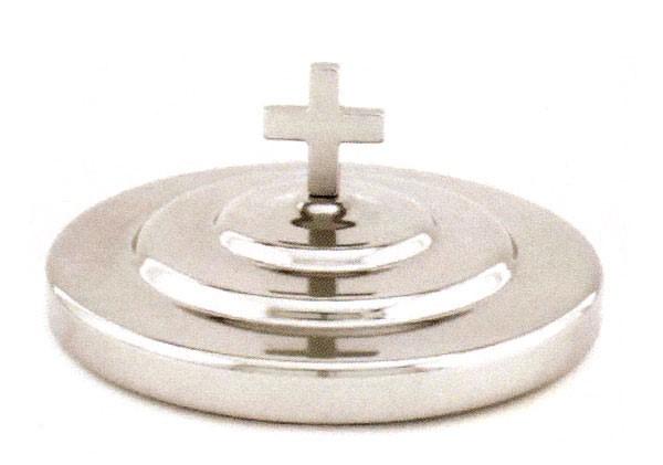 Coperchio vassoio per il pane Santa Cena - Alluminio, colore argento