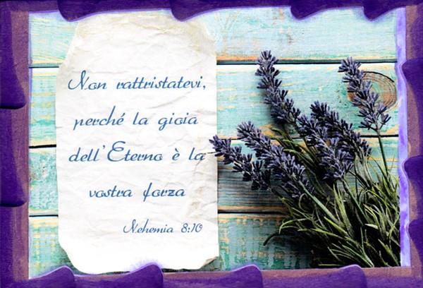 Quadretto in legno lavorato a mano Nehemia 8:10