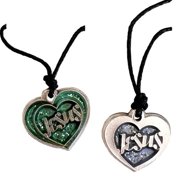 Collana argentata cuore con scritta