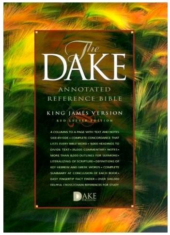 KJV The Dake annotated reference Bible (Copertina rigida)