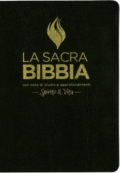 Bibbia da studio Spirito e Vita in Pelle Nera (Pelle) [Bibbia Grande]