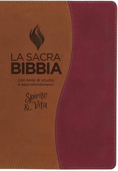Bibbia da studio Spirito e Vita in Similpelle Bicolore Marrone/Ruggine (Similpelle) [Bibbia Grande]