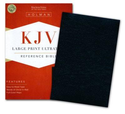 KJV Large Print Ultrathin Reference Bible (Pelle) [Bibbia Grande]