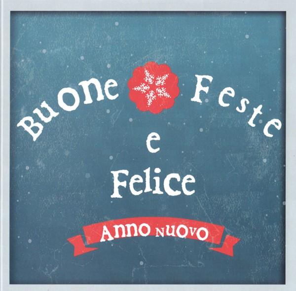 """Biglietto """"Buone Feste"""" Snowflake blu con busta"""
