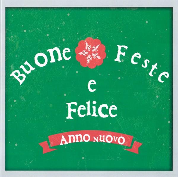 """Biglietto """"Buone Feste"""" Snowflake verde con busta"""