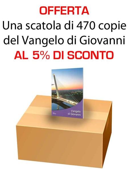 Offerta - Una scatola da 470 copie del Vangelo di Giovanni al 15% di sconto (Spillato)