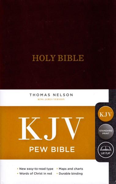 KJV Pew Bible Burgundy (Copertina rigida) [Bibbia Media]