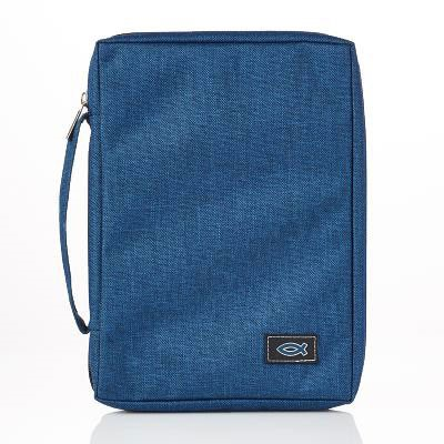 Copribibbia Fish Blue Navy - Small (Stoffa)