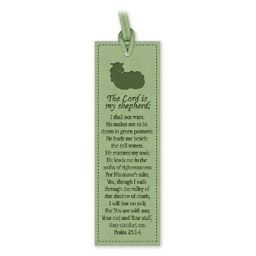 Segnalibro The Lord is my shepherd (Similpelle) [Segnalibro]