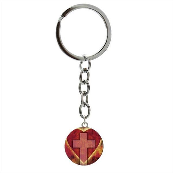Portachiavi Croce/Cuore rosso [Portachiavi]