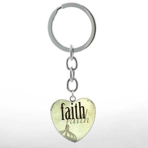 Portachiavi Faith cuore verde