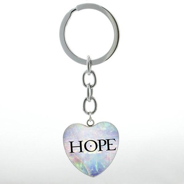 Portachiavi Hope cuore azzurro