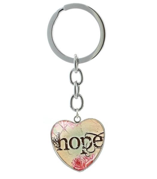 Portachiavi Hope cuore verde