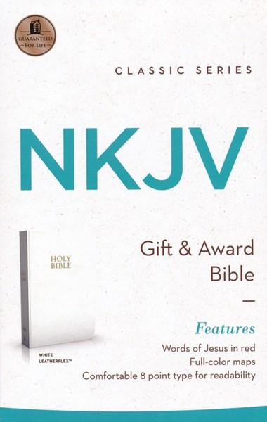 NKJV Gift And Award Bible White (Similpelle) [Bibbia Media]