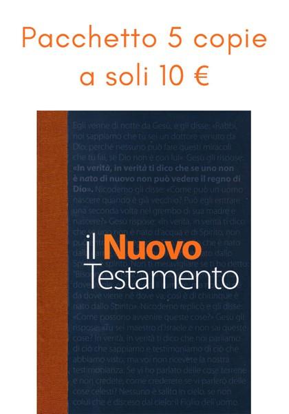 """Offerta 5 copie de """"Il Nuovo Testamento"""" NR06"""
