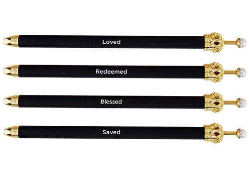 Set di 4 penne Crown Pen Black