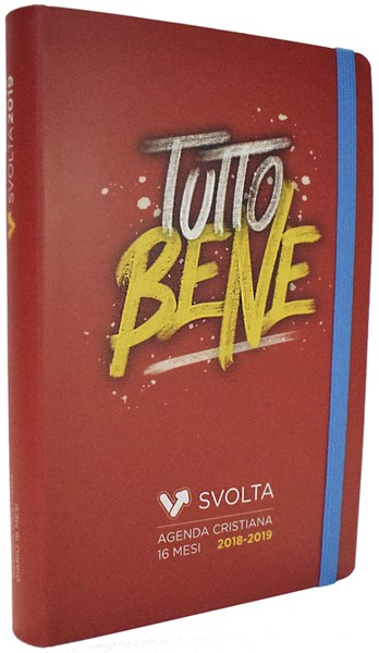 SvoltAgenda 2018-2019 Brush Rosso (Copertina flessibile on elastico)