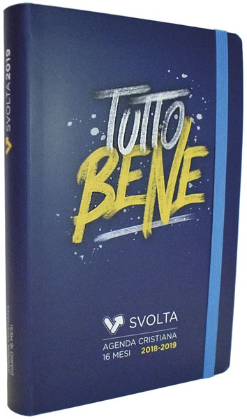 SvoltAgenda 2018-2019 Brush Blu (Copertina flessibile on elastico)