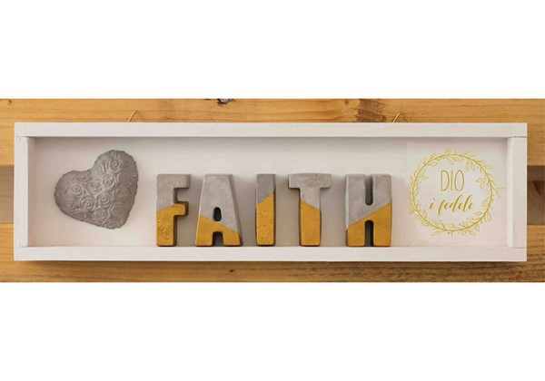 Cubotto rettangolare Faith dorato