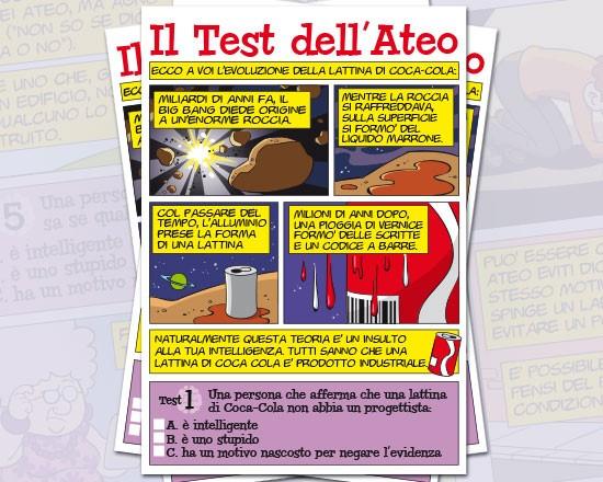 Il test dell'ateo - Confezione da 100 opuscoli (Volantino)