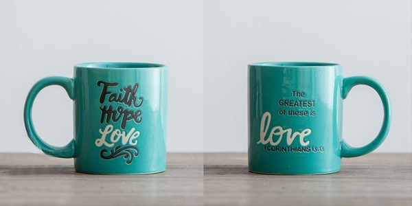 Tazza Faith Hope Love