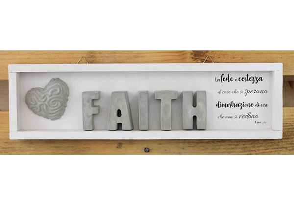 Cubotto rettangolare Faith grigio