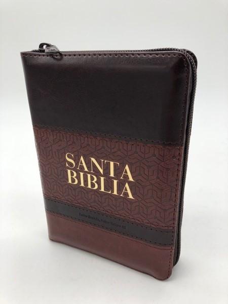 Biblia RVR60 Letra Mediana Cierre Indice Marron (Similpelle)