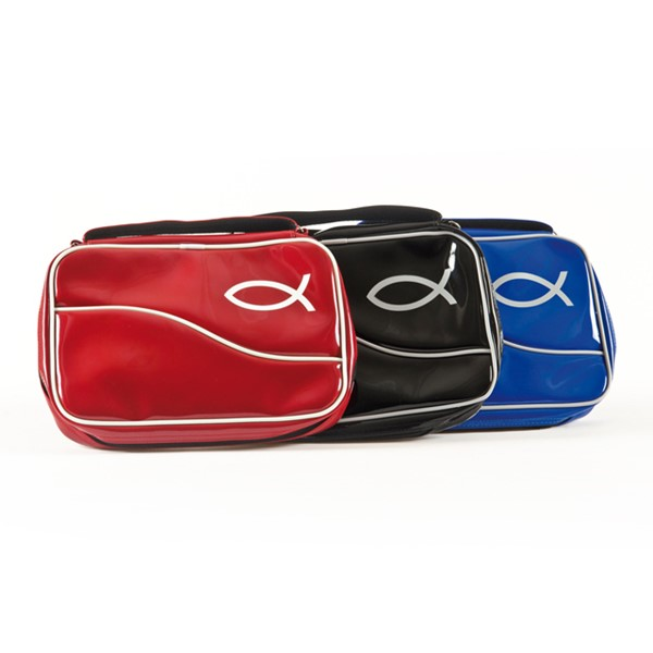 A7155 Copribibbia Pesce in vernice Rosso - XL (Similpelle)
