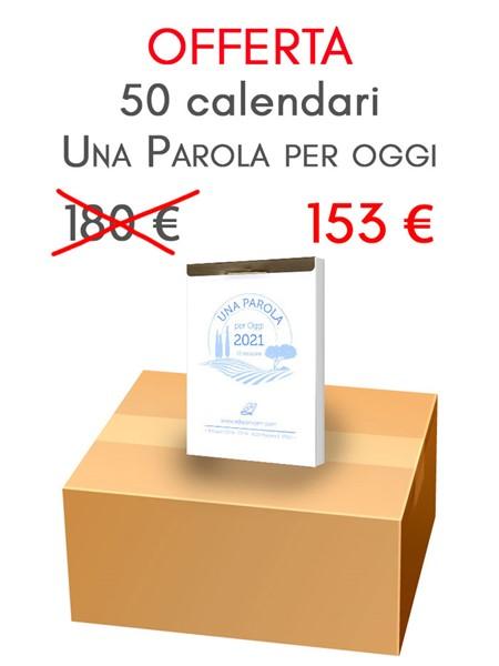 Scatola Calendari Una Parola per Oggi - 50 pezzi (Blocchetto da muro)