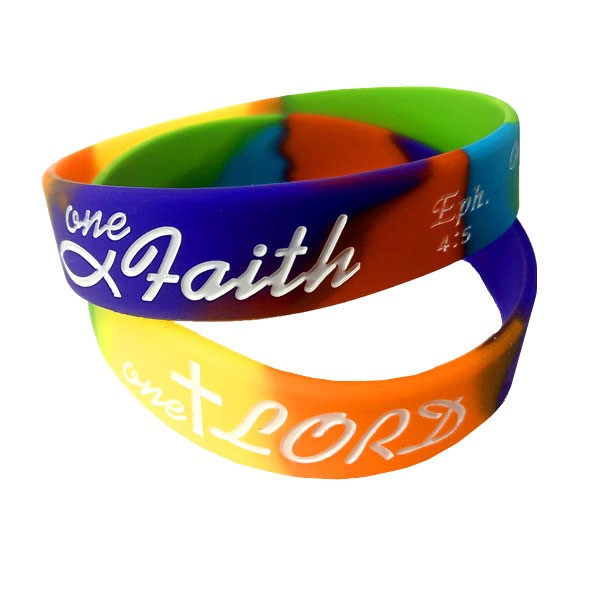 Braccialetto multicolor One Lord One Faith One Baptism