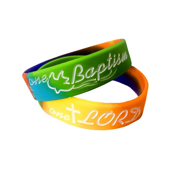 Braccialetto multicolor One Lord One Faith One Baptism Small