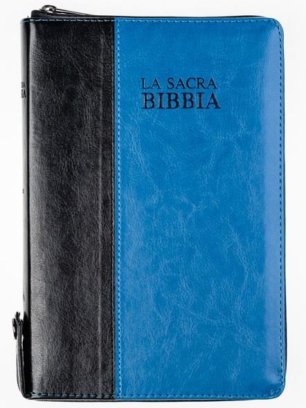 Bibbia Nuova Diodati Nera/Blu - Formato medio (171.252) (Similpelle)