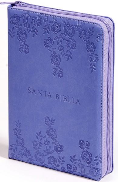 RVR 60 Biblia Letra Grande Morada Rosas (Similpelle)