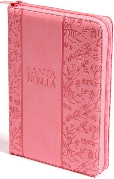 RVR 60 Biblia Letra Grande Rosada Flores (Similpelle)